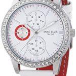 Mike Ellis New York Damen-Armbanduhr Analog Quarz Leder SL4-60227 B00LNB1A9A