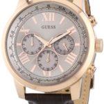 Guess Herren-Armbanduhr XL Chronograph Quarz Leder W0380G4 B00IAP7TOM