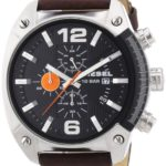Diesel Herren-Armbanduhr OverFlow Chronograph Quarz Leder DZ4204 B004Y4ZB3E