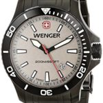 Wenger Herren 0641.107 Sea Force 3H Analog Display Swiss Quartz Grey Armbanduhr B008NPM1UQ