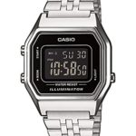 Casio Damen-Armbanduhr CASIO COLLECTION RETRO Analog Quarz (One Size, schwarz) B00TEJ39YM