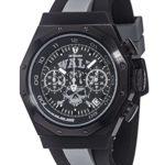 Detomaso Herren-Armbanduhr WALZ Edition ADRENALINE Grey Trend Chronograph Quarz Silikon DT-W1003-D B00QQDK50U