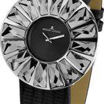 Jacques Lemans Damen-Armbanduhr XL La Passion Flora Analog Quarz Leder 1-1638A B004TTXE6A