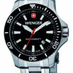 Wenger Herren-Armbanduhr XL Seaforce Analog Quarz Edelstahl 01.0641.105 B008CDOI28