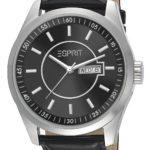 Esprit Herren-Armbanduhr XL Circolo Night Analog Quarz Leder ES104081001 B00G9YNRO2