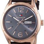 Tommy Hilfiger Watches Herren-Armbanduhr XL CHARLIE Analog Quarz Leder 1791058 B00MLYD2D0