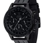 Detomaso Herren-Armbanduhr FIRENZE BLACK Chronograph Trend Quarz Leder DT1068-A B00Q6UGZWA