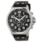TW Steel Herren-Armbanduhr XL Pilot Chronograph Quarz Leder TW-413 B00D98N8JU