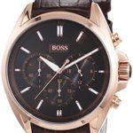 Hugo Boss Herren-Armbanduhr XL Driver Chronograph Quarz Leder 1513036 B00N42X530