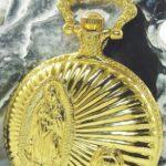 Classique Taschenuhr Weiß Gold + Ersatzbatterie Jesus Maria Christ Metall Analog Quarz Herrenuhr B00HR5DYP4