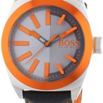 BOSS Orange Herren-Armbanduhr XL London Analog Quarz Leder 1513056 B00MJ1J2OI