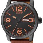 Citizen Herren-Armbanduhr XL Analog Quarz Leder BM8476-07EE B00B3QBBDK