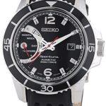 Seiko Herren-Armbanduhr XL Sportura Kinetic Analog Quarz Leder SRG019P2 B00MCBFMZS