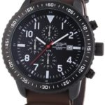 Mike Ellis New York Herren-Armbanduhr XL Chronograph Quarz Kunstleder 17986/2 B00H8VGC10