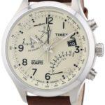 Timex Herren-Armbanduhr XL IQ Fly-Back Chronograph LederT2N932D7 B008P9V160