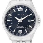 Citizen Herren-Armbanduhr XL Funkuhren Analog Quarz Edelstahl CB0010-88L B00NQ0LA82