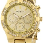 Mike Ellis New York Damen-Armbanduhr Analog Quarz Edelstahl beschichtet L2698AGM B00DIR79RY