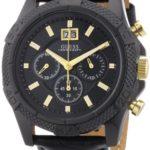 Guess Herren-Armbanduhr XL Mens Sport Chronograph Quarz Leder W0176G1 B00BLIQQPI