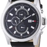 Tommy Hilfiger Herren-Armbanduhr XL Arlington Chronograph Quarz Leder 1790730 B004GF4THK
