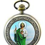 Unendlich U Unique die Jesus Christ von Christentum mit Handaufzug mechanisch Taschenuhr mit Skelett aus Stahl B00LGDD5BG