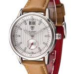 Detomaso Damen-Armbanduhr CERVINIA SWISS MADE Silber/Braun Ladies Analog Quarz Leder DT3023-D B00RBO0X0U