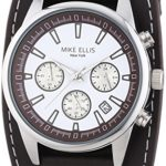 Mike Ellis New York Herren-Armbanduhr XL Chronograph Quarz Leder SL4-60223 B00LNB0XNO