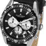 Jacques Lemans Herren-Armbanduhr XL Liverpool Chronograph Quarz Leder 1-1801A B00I8OY4D4