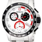 Wenger Battalion Chrono Sport Stainless Steel Mens Watch Calendar Black Bezel 70797 B003XGQYAI