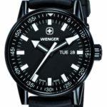 Wenger Herren-Armbanduhr XL Commando Black Line Analog Quarz Silikon 70175 B003YOGPRG