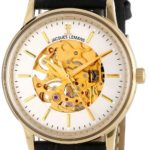 Jacques Lemans N-207B NOSTALGIE Uhr Damenuhr Lederarmband Edelstahl 50m Analog schwarz B00CY8H1T4
