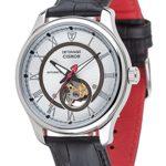 Detomaso Herren-Armbanduhr XL CISMON Automatik Silber/Silber Classic Analog Leder DT1056-B B00F9OSYNW