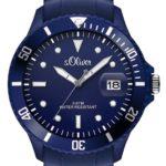 s.Oliver Herren-Armbanduhr XL Analog Quarz Silikon SO-2680-PQ B00BKVYX06