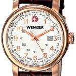 Wenger Damen-Armbanduhr XS URBAN CLASSIC PVD Analog Quarz Leder 01.1021.108 B00JQ6ZMUC