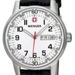 Wenger Herren-Armbanduhr XL Commando Day Date  Analog Quarz Leder 70160.XL B000BT8PIO