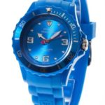 DeTomaso  Damen-Armbanduhr COLORATO Blue Analog Quarz Silikon DT3007-D B007RW87JU