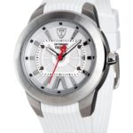 Detomaso Unisex-Armbanduhr TREBBIA Automatic Silver/White Analog Silikon DT2043-B B00H46RR40