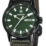 Wenger Herren-Armbanduhr XL Commando Black Line Analog Quarz Nylon 70174 B003YOLTFY