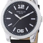 Mike Ellis New York Herren-Armbanduhr XL PETROL Analog Quarz Leder SL4318 B00KQPVOHC