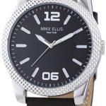 Mike Ellis New York Herren-Armbanduhr XL PETROL Analog Quarz Leder SL4318 B00KQPVOHC