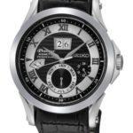 Seiko Herren-Armbanduhr XL Premier Analog Automatik Leder SNP061P1 B00FGPY06O