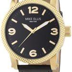 Mike Ellis New York Herren-Armbanduhr XL an:e Analog Quarz Leder SL4316/1 B00KQPW2KK