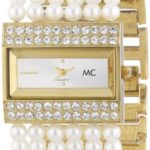 MC Timetrend Damen-Armbanduhr Analog Quarz Perlenband 11776 B004OR29NG