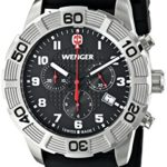 Wenger Herren-Armbanduhr XL Roadster Chrono Analog Quarz Silikon 01.0853.101 B00JQG88MQ