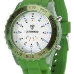 Detomaso Unisex-Armbanduhr SPACY TIMELINE Silicon Green/White Dial Digital Quarz Silikon DT2015-T B00AM7K20Y
