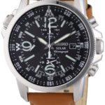 Seiko Herren-Armbanduhr XL Chronograph Quarz Leder SSC081P1 B008VGQM4I