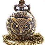 MD Sanlise Vintage Eule Strigiformes Taschenuhr Europäische Typische Schmuck für Pullover Mantel Liebliche Uhr Cartoon B00RJLVL88